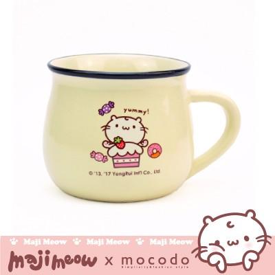 魔法家-mocodo 麻吉貓牛奶杯-米白色 350ml 附盒 杯子 對杯 水杯 咖啡杯 下午茶 陶瓷 生日禮物