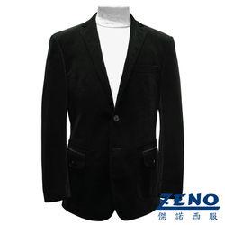 ZENO傑諾 歐風頂級經編絨獵裝外套‧墨綠