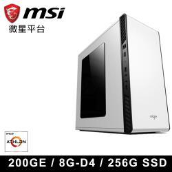 微星A320平台 AMD 200GE 雙核 輕娛樂文書機III