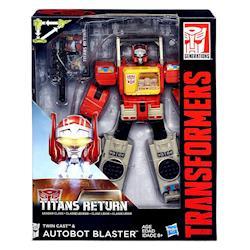 【 孩之寶 TRANSFORMERS 變形金剛 】世代系列 - 泰坦之戰無敵戰將 TWIN CAST  BLASTER 錄音機 爆破者