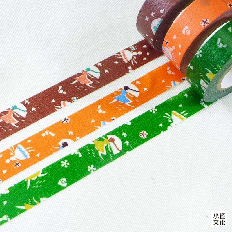 【倉敷意匠計劃室】日本進口 關美穗子系列和紙膠帶 - 戀文 ( 45322-03 ),15mm