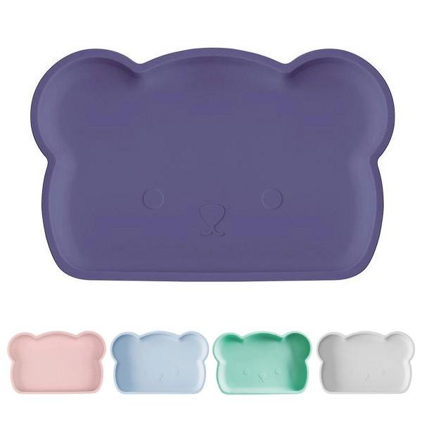 新加坡 bopomofo 小熊矽膠餐盤|吸盤(7色可選)【麗兒采家】