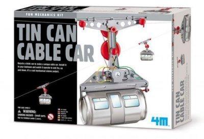 創意環保纜車Tin Can Cable Car 鋁罐回收再利用 在房裡架設迷你纜車! 蜘蛛人 辦公室傳情 傳紙條