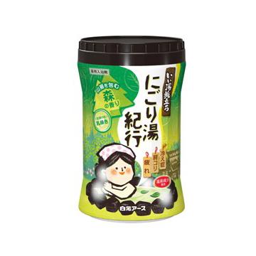 【日本 白元Earth】溫泉系列 入浴劑 泡澡粉 600g (森林) -共三罐