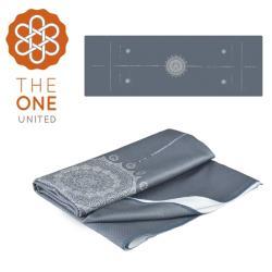 The One 鑽石紋正位線止滑瑜珈舖巾(灰色)