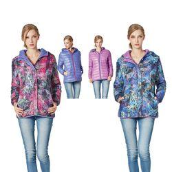 【SAMLIX山力士】JIS90%羽絨防潑水兩面穿炫彩3D數位印花保暖外套#37416