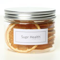 suprhealth 幸福果時 無糖低溫乾燥美國香吉士甜橙乾佐茶片果乾*1罐