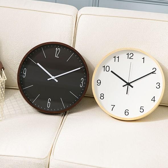 【Lovel】30cm 簡約木紋膠框時鐘/掛鐘 共2款《泡泡生活》