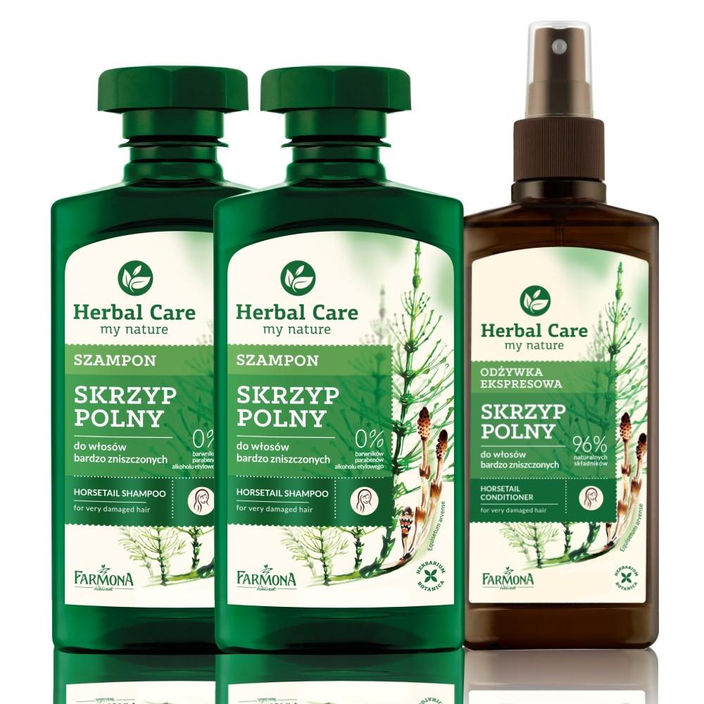 歐洲Herbal care 波蘭植萃 - 草本順髮滋養洗護3入組 (洗髮露x2/順髮噴霧x1)