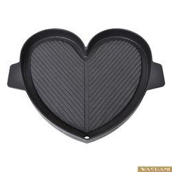 WASHAMl 台灣設計鑄鐵烤盤獨家不沾 愛情心形