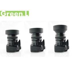 Green.L橡膠可伸縮 廣角標準望遠三用55mm遮光罩三折遮光罩螺口螺牙螺紋遮光罩lens hood