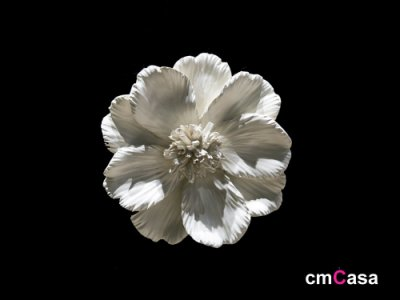 = cmCasa = [5012]簡約典雅視覺設計 白色山茶花立體掛飾(小) 唯美意境新發行