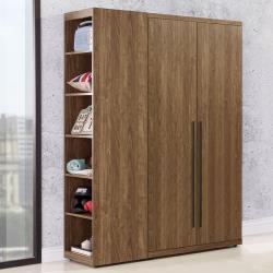 Homelike 歐博3.7尺衣櫃(胡桃木紋)