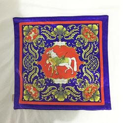 【協貿】奢華復古棉絨布料僕人和馬沙發方形抱枕含芯
