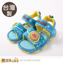 魔法Baby 男童鞋 台灣製麵包超人授權正版閃燈涼鞋~sa90396