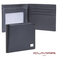 【CUMAR】簡式證件短夾-義大利牛皮-EVE II系列(經典黑)