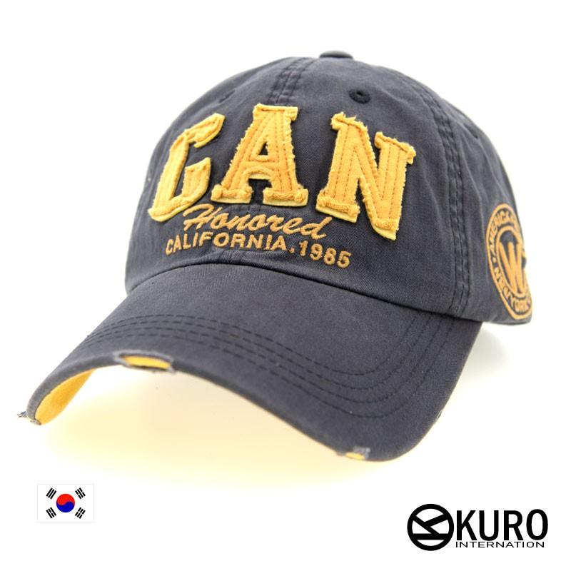 KURO-SHOP韓國進口深灰色CAN老帽棒球帽布帽