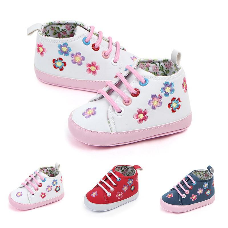 春秋熱款女寶寶小花嬰兒鞋軟底學步鞋嬰幼兒鞋【IU貝嬰屋】