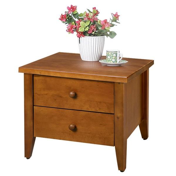 YoStyle 松木床頭櫃 實木床頭櫃 床邊櫃 二抽櫃 櫥櫃 收納櫃 專人配送安裝