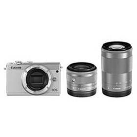 【送料無料】【即納】Canon EOS M100 ダブルズームキット [ホワイト]