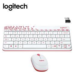 【logitech 羅技】MK240 NANO無線鍵鼠組 白色
