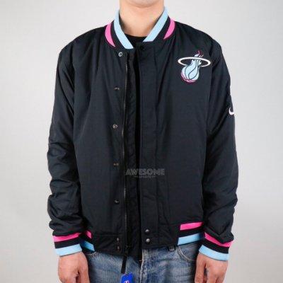 [歐鉉]NIKE NBA 城市限定 熱火隊 Miami 南灣配色 鋪棉 棒球外套 運動外套 男生 AH5285-010