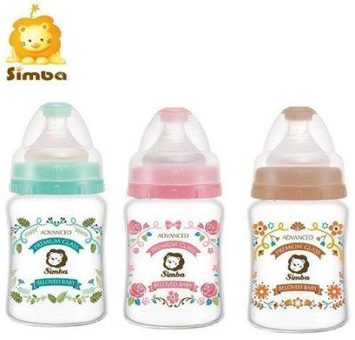 【小不點】小獅王 辛巴 蘿蔓晶鑽 寬口葫蘆 玻璃 小奶瓶 180ml