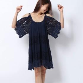 ゲス GUESS THI LACE DRESS (DECK BLUE)