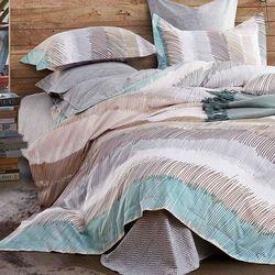 【Betrise】城市心跳-環保印染德國防螨抗菌精梳棉四件式兩用被床包組-雙人