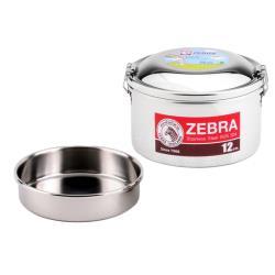 ZEBRA斑馬12cm圓型雙層便當盒 8S12
