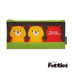 任-【Mini Beanie】Fatties筆袋/收納包-小熊(咖啡)
