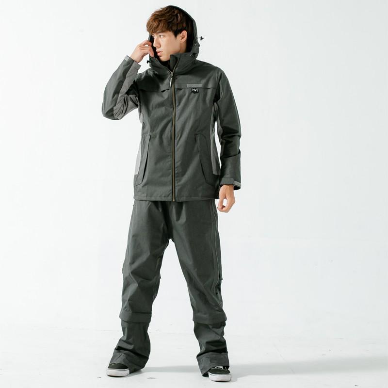 BrightDay-Aero9項專利透氣兩件式風雨衣(A9)-鐵灰