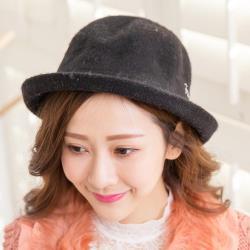 imaco 韓版復古百搭羊毛盆帽(黑)