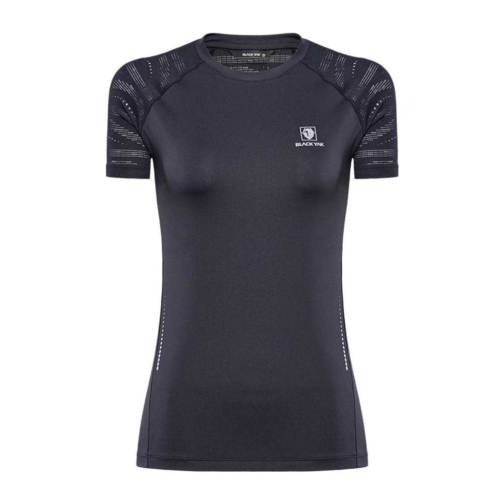 【BLACKYAK】女YAKFREE修身短袖圓領T恤 [黑] 涼感透氣T恤 | BY181WC504