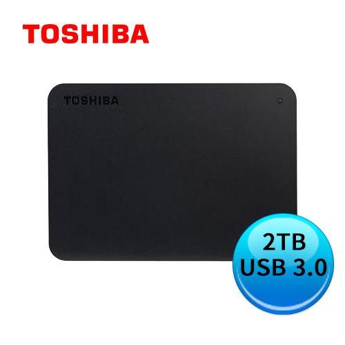 TOSHIBA 東芝 Canvio A3 Basics 黑靚潮III 2TB 2.5吋 外接硬碟 三年保 / 紐頓e世界