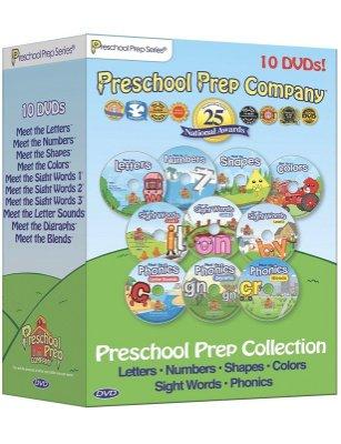 ☆天才老爸☆→【美國PreSchool Prep Company】幼兒美語學習DVD 10片完整版(贈下載碼) 批發