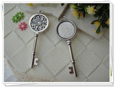 小綠蛙精品&手作材料//古銀色20mm圓形造型鑰匙底托,平台Q//一份1個10元//(DF20-Q)