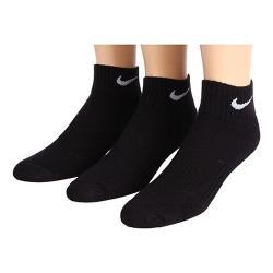 Nike 2018男女學童Cushion1/4低切黑色運動短襪3入組
