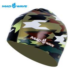 俄羅斯MADWAVE成人矽膠迷彩泳帽 MILITARY