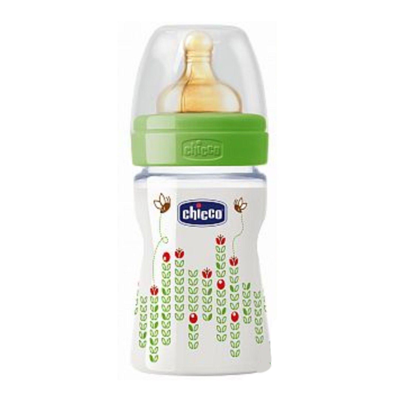 義大利 chicco - 舒適哺乳-自然田園乳膠PP奶瓶-小(0m+) (150ml)-小單孔