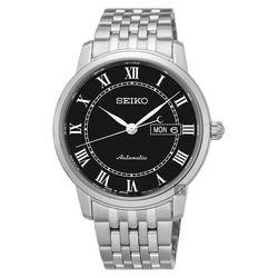 SEIKO精工 Presage 羅馬經典機械腕錶 黑 40mm 4R36-04E0X SRP765J1
