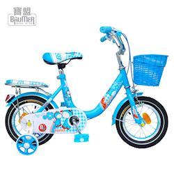 寶盟BAUMER 12吋親子鹿腳踏車(水藍)