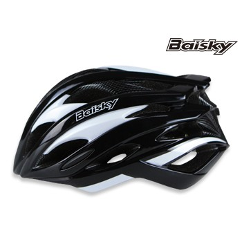 BAISKY百士奇 直排輪登山公路自行車安全帽第一代 黑白