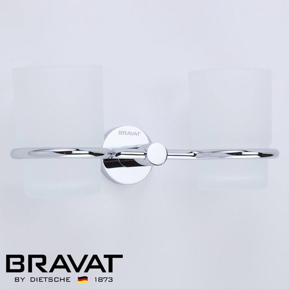 BRAVAT 貝朗 融宜不鏽鋼漱口杯架 D736C-1
