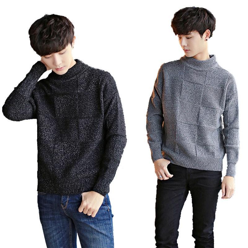 CPMAX 針織高領毛衣 素色方格紋毛衣 高領毛衣 針織衫 高領針織 韓系毛衣 男版毛衣 氣質針織毛衣【C54】