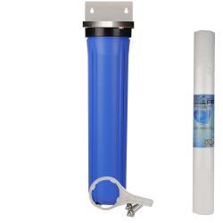 20吋小胖公規單道濾殼吊片組(藍殼)+PP棉濾心
