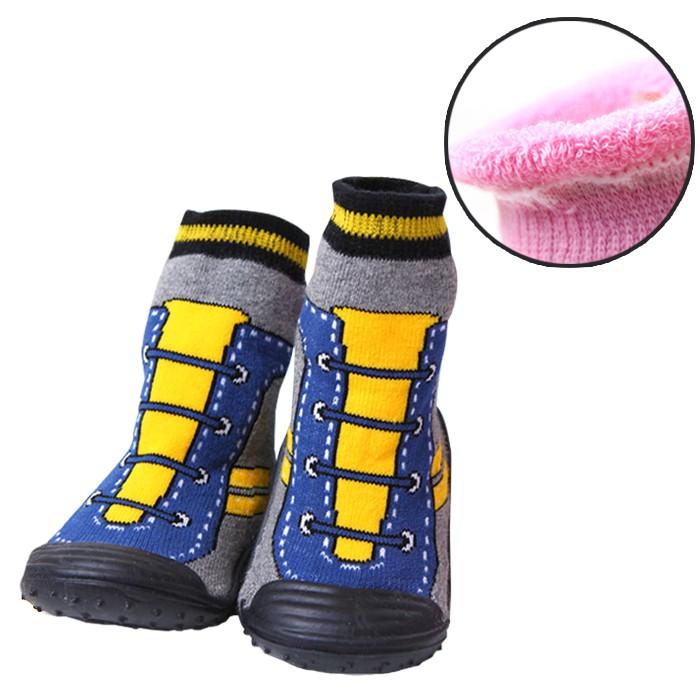 超暖極厚~氣墊膠底鞋襪/防滑襪/地板鞋/室內鞋【56099-1】貝比幸福小舖