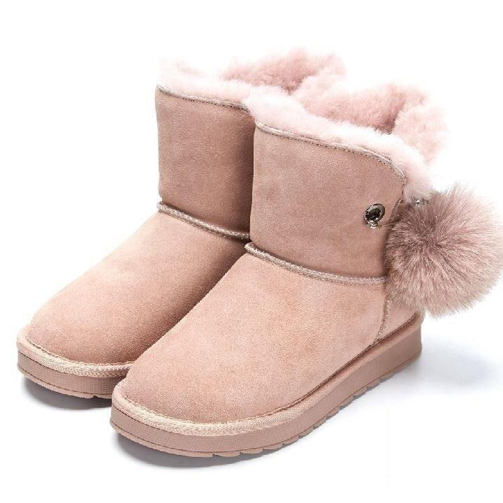 【雪靴】 可愛到爆炸人氣反毛皮雪靴-211069-2 粉紅 / 原價 3680元