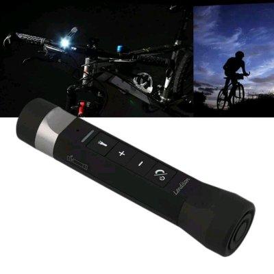 【促銷價299元】多功能 LED藍牙款手電筒强光插卡自行車MP3音樂棒