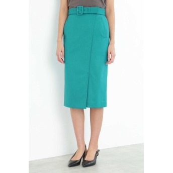 BOSCH [ウォッシャブル]TRツイルスカート ひざ丈スカート,ターコイズブルー1